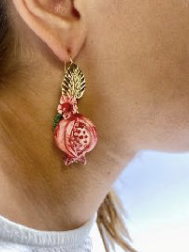 Picture of Pomegranate earrings